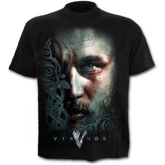 tričko pánske SPIRAL - RAGNAR FACE - Vikings - Black, SPIRAL
