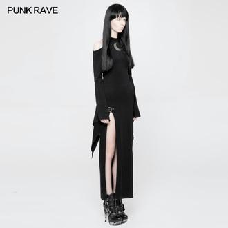 šaty dámske PUNK RAVE - Lunaria long Gothic, PUNK RAVE