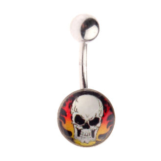 piercingový šperk Lebka - 1PCS - L 064 - MABR