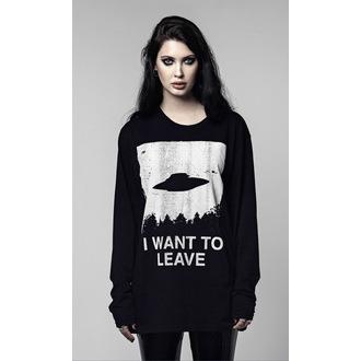 tričko s dlhým rukávom (unisex) DISTURBIA - I WANT TO LEAVE, DISTURBIA