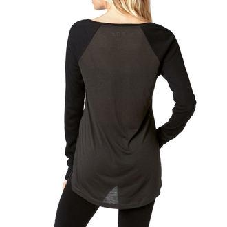 tričko dámske s dlhým rukávom FOX - Certain - Black Vintage, FOX