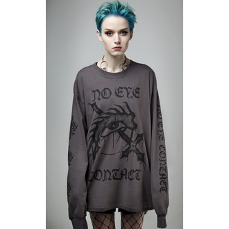 tričko s dlhým rukávom (unisex) DISTURBIA - No Eye Contact - Charcoal, DISTURBIA