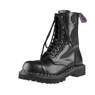topánky STEADY´S - 10 dierkové - Black rose, STEADY´S
