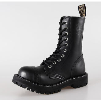 topánky STEEL - 10 dierkové čierne ( 105/106 Black)