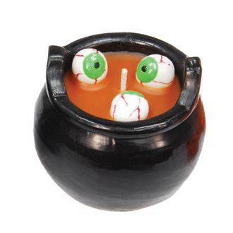 sviečka Cauldron WITH EYES - Orange