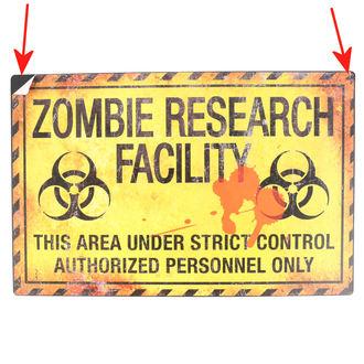 ceduľa Zombie research facility - D2677G6 - POŠKODENÁ, NNM