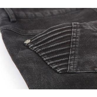 nohavice dámske PUNK RAVE - Black Wire - PK-069