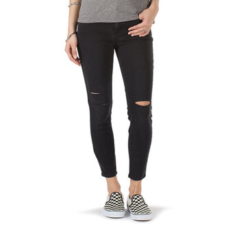 nohavice dámske (jeansy) VANS - DESTRUCTED SKINNY - Smoke, VANS