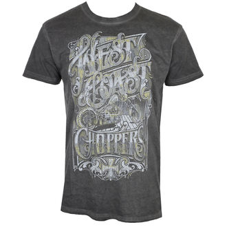 tričko pánske West Coast Choppers - CUSTOM LOGO - Melange black, West Coast Choppers