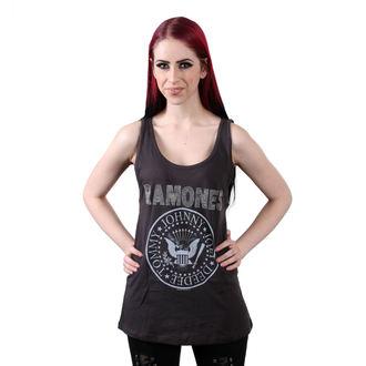 tielko dámske RAMONES - LOGO DIAMANTE SILVER - Charcoal - AMPLIFIED, AMPLIFIED, Ramones