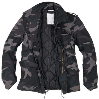 bunda pánska zimný SURPLUS - M 65 - Black Camo