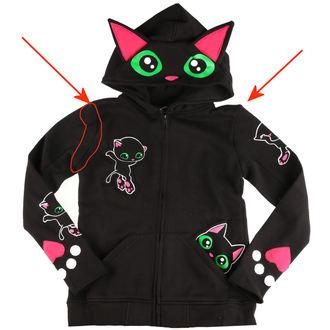 mikina dámska Cupcake cult - BLACK CAT - BLACK - POŠKODENÁ, CUPCAKE CULT