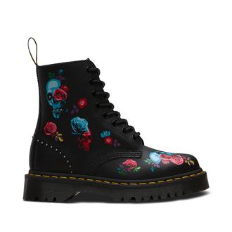 topánky DR.MARTENS - 8 dierkové - PASCAL BEX ROSE BLACK MULTI, Dr. Martens