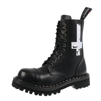 topánky STEADY´S - 10 dierkové - Cross white, STEADY´S