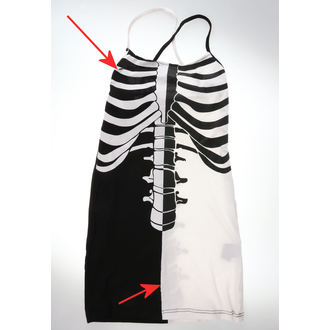 šaty dámske Heartless - FRACTURE - BLACK/WHITE - POŠKODENÉ, HEARTLESS