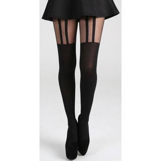 pančucháče PAMELA MANN - 2 Stripe Suspender - Black, PAMELA MANN