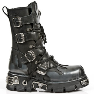 topánky NEW ROCK - Flame Boots (591-S2) Black-Grey, NEW ROCK