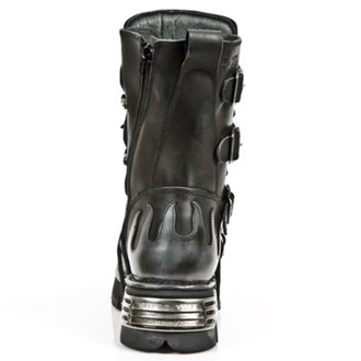 topánky NEW ROCK - Flame Boots (591-S2) Black-Grey - N-8-05-700-08