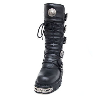 topánky NEW ROCK - 5-Buckle Boots (402-S1) Black, NEW ROCK