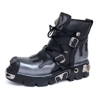topánky NEW ROCK - Flame Shoes (288-S2) Black-Grey - N-8-53-700-08