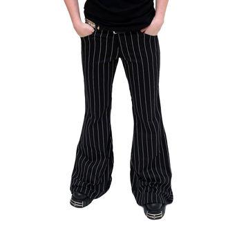 nohavice dámske Mode Wichtig - Flares Pin Stripe Black-White, MODE WICHTIG