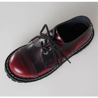 topánky STEEL - 3 dierkové vínovej (101/102 Red Black-Burgund)