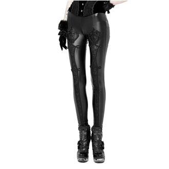 nohavice dámske (legíny) PUNK RAVE - Black Soiree Gothic, PUNK RAVE