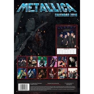 kalendár na rok 2018 METALLICA, Metallica