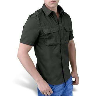 košele SURPLUS - 1/2 Vintage Shirt - Black, SURPLUS