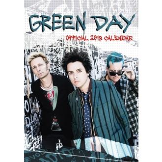 kalendár na rok 2018 GREEN DAY, NNM, Green Day
