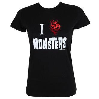 tričko dámske KREEPSVILLE SIX SIX SIX - Heart Monsters Foil Tee, KREEPSVILLE SIX SIX SIX