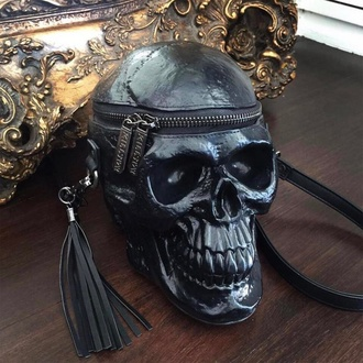 taška (kabelka) KILLSTAR - Grave Digger Skull - Black -