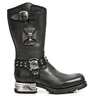 topánky NEW ROCK - ITALI ANTIK MOTOROCK T.ACERO - M.MR030-S1