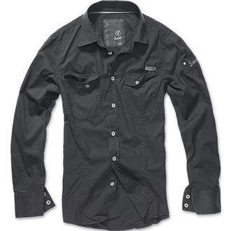 košele pánska Brandit - Men Shirt Slim - Black, BRANDIT