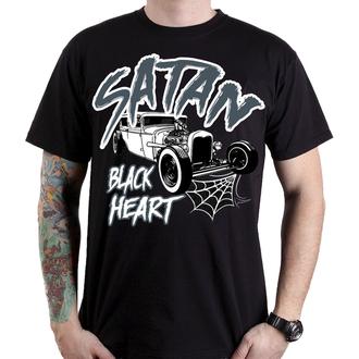 tričko pánske BLACK HEART - SATAN - BLACK, BLACK HEART