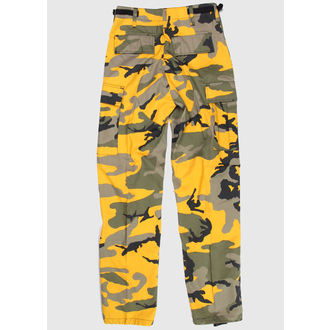 nohavice pánske US BDUS - ARMY - YELLOW GREEN CAMO, BOOTS & BRACES