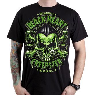 tričko pánske BLACK HEART - CREEPSTER - Black, BLACK HEART