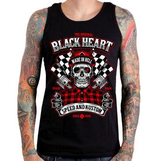 tielko pánske BLACK HEART - SPEED AND KUSTOM SKULL - BLACK, BLACK HEART