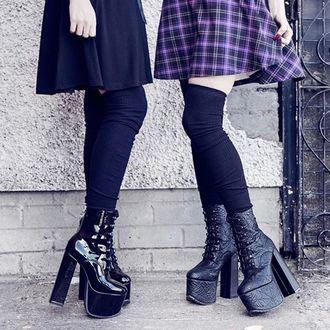 topánky dámske KILLSTAR - Graveyard - BLACK
