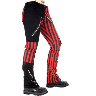 nohavice pánske Black Pistol - Freak Pants Stripe (Black / Red), BLACK PISTOL