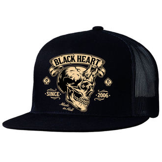 šiltovka BLACK HEART - DEVIL SKULL - BLACK, BLACK HEART