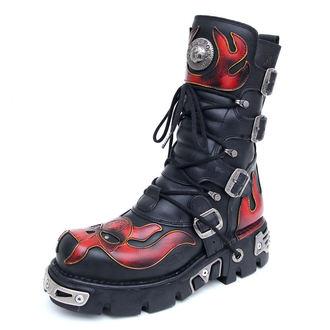 Topánky New rock - Vampire Boots (107-S1) Black-Orange - N-8-01-700-09