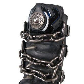 Topánky New rock - Chain Boots (727-S1) Black, NEW ROCK