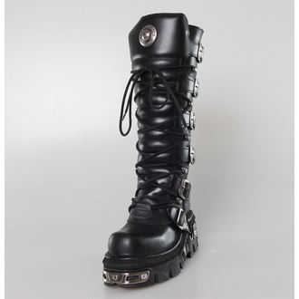 Topánky New rock - 6-Buckle Boots (272-S1) Black, NEW ROCK