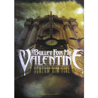 vlajka Bullet For My Valentine - Scream Cieľ Fire, HEART ROCK, Bullet For my Valentine
