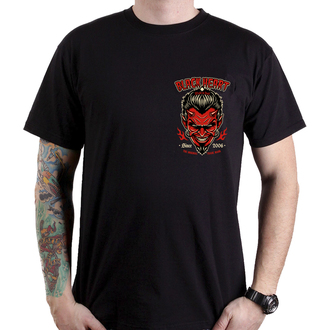 tričko pánske BLACK HEART - DEVIL SKULL - BLACK, BLACK HEART
