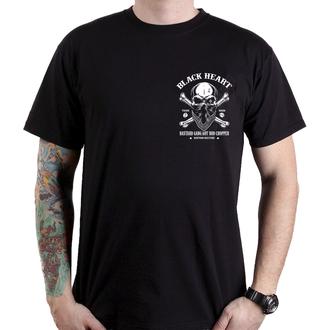 tričko pánske BLACK HEART - ROBBER - BLACK, BLACK HEART
