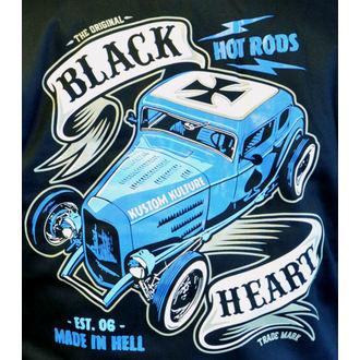 mikina pánska BLACK HEART - BRUISER - BLACK, BLACK HEART