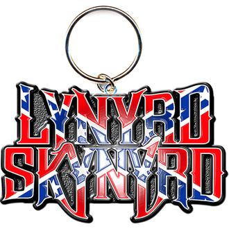 kľúčenka - prívesok Lynyrd Skynyrd (Flag Logo) - ROCK OFF, ROCK OFF, Lynyrd Skynyrd