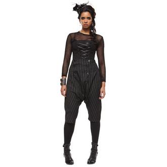 kalhoty dámské 3/4 HELL BUNNY 'Napoleon trousers black/white pinstri' 5213, HELL BUNNY